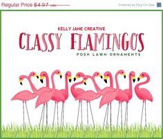 Classy Flamingo Digital Lawn Ornaments will add a touch of elegance to any digital yard. https://www.etsy.com/listing/183835976