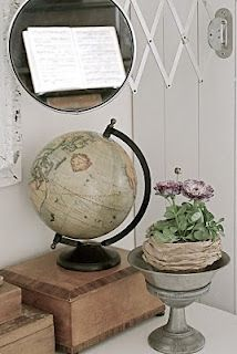 Globes are old-world and is nice for a study or library.