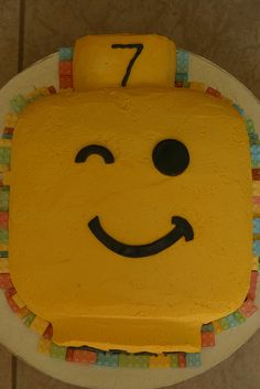 Lego Head Birthday Cake by Jacqueline Naerebout, via Flickr