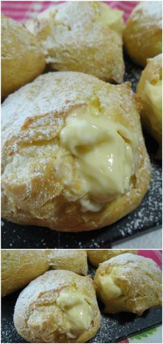 Bignè di San Giuseppe al forno, facili e golosi ! #bigne #sangiuseppe #bignesangiuseppe #bignealforno #gustosericette #ricettegustose