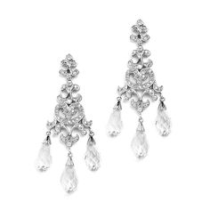 Crystal Teardrop Vintage Chandelier Earrings for Weddings, Proms or Bridesmaid