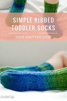 Simple ribbed toddler socks.
