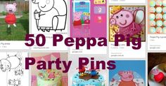 Peppa Pig Party Pins - Style your party with this collection of Peppa Pig Party Ideas.... Liana loves Peppa!!!