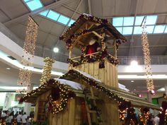 Santa Claus house decoration in MogiShopping in Mogi das Cruzes city