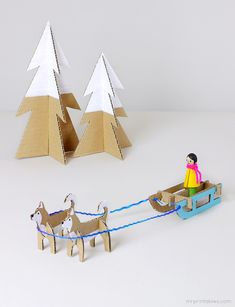 My favorite papercraft makers at Mr. Printables are at it again with this awesome Winter Wonderland