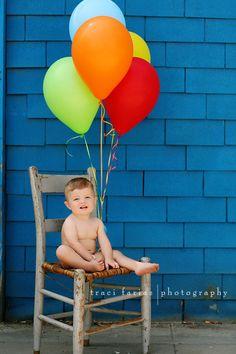 birthday boy photo idea...add a balloon for each year older!