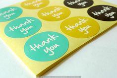 Circle Thank You Sticker Labels - cutetape