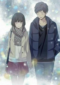 Find images and videos about couple, anime and kawaii on We Heart It - the app to get lost in what you love. Manga Couple, Anime Love Couple, Anime Couples Manga, Cute Anime Couples, Kawaii Anime, Relife Anime, Anime Art, Vocaloid, Cute Couple Art
