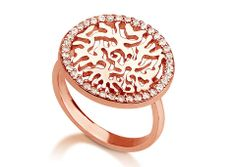 Rose gold plated silver circle of life ring.  http://www.pennylevi.com/