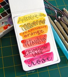 lori has the ability to take something mundane, like the simple names of colors, and turn it into a masterpiece using her creative lettering style. soooo beautiful!