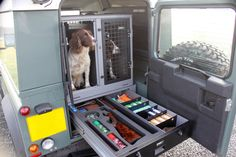 TransK9/B8 Land Rover Defender Dog Transit Box Dog Cage Dog Crate www.transk9.com