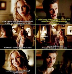 This part makes me SO HAPPY! ❤ I love klaroline!! She's the only one that makes him happy
