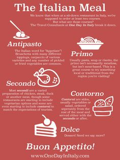 The Italian Meal | Plan your dream trip with OneDayInItaly.com