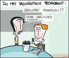 CARTOONS EN ILLUSTRATIES: Cartoon: vaginistisch restaurant