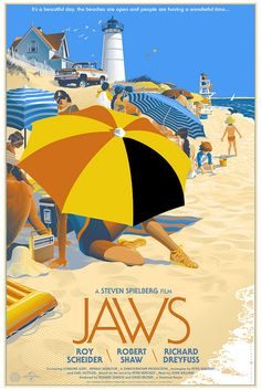 jaws by Laurent Durieux, #poster #illustration #movieposter