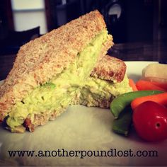 Easy Avocado Tuna Salad Sandwich for One Oh man, this was yummy! So, Jeremiah is gone for the week and, as per usual, I was struggling with an easy meal idea that is just one serving. This sandwich definitely fit the bill perfectly! It took literally about 5 minutes to put together, was really healthy, and very filling. But most importantly, it tasted awesome! Ingredients: one 5 ounce can of tuna packed in water (I used the no salt Trader Joe's version) ½ avocado (I weighed mine and it…
