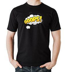 Ooops Comic T-Shirt Negro Certified Freak-M - Camiseta