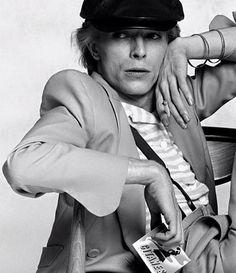 David Bowie Gitanes 1974 by Terry O'Neill