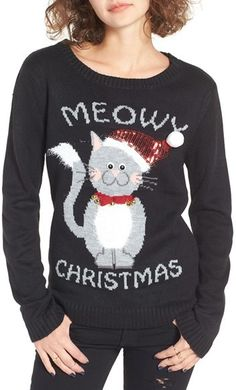 Love By Design Meowy Christmas Sweater / Ugly Christmas Sweater / Tacky Christmas Sweater / #ad