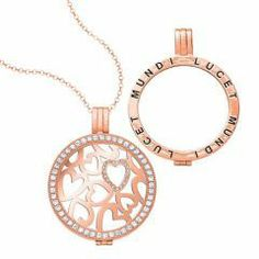 Sterling silver with 1.5 micron Rose gold plated locket ,coin and chain.