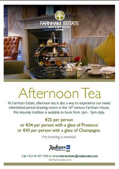 Treat yourself to delicious afternoon tea in our wonderful 16th Century Farnham House reception rooms.