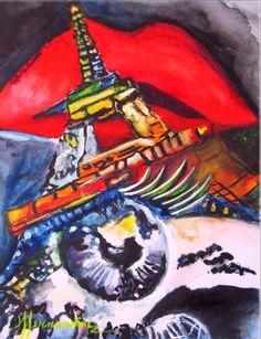 PARIS FASHION LOVE-ACUARELA FERNANDINI- (23cmx30cm) PRECIO:300 dólares | Venta de Pinturas al óleo y acuarela de Patty Fernandini