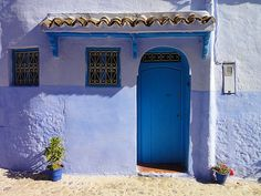Chefchaouen, Morocco - Perfect painted blue home