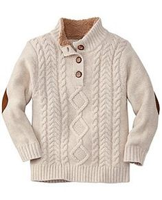 Cableknit Sweater from #HannaAndersson.