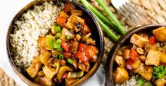 Healthy Kung Pao Chicken will quickly replace your favorite Chinese take-out with only 300 calories and it's Paleo and clean eating friendly.