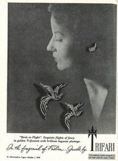 1950 Trifari 'Birds in Flight'
