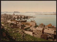 From St Hanshaugen, Hammerfest, Norway - Picture produced by the Photochrome system - 1890s