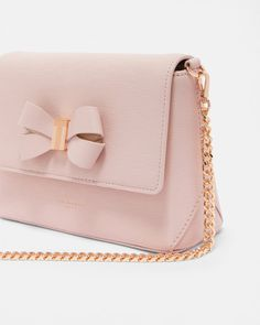 Bow detail cross body bag - Light Pink  935500dcba01e