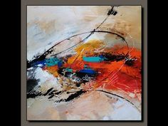 Abstract Painting demonstration /Acrylic abstract painting /New - YouTube