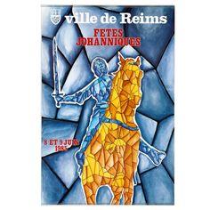 MORAUX. Ville de Reims Fêtes Joahnniques. Offset Offset, Le Moral, Reims, Galleries, Auction, Posters, City, Event Posters, Poster