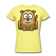 Tiger Africa India  Women's Slim Fit T-Shirt by American Apparel  Slim-fitting Soft Jersey T-Shirt, 100% cotton, Brand: American Apparel   It is recommended to order a size up if looking for a more relaxed fit. Shrinkage levels fall within 3-4% of industry standards. $27.40