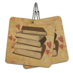 Stack of Books Wood MDF 4' x 4' Mini Signs Gift Tags ** Be sure to check out this awesome product.