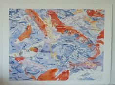 """""""Fractured Fish"""" 2011.  Watercolor, full sheet (22x30 inches)."""