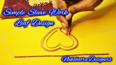 Dear Friends, 💘💘 Welcome to 🌺 Nakshatra Designers. 🌼🌼 How To Do This Simple Blouse Sleeve Work Using Leaf Design In Aari Embroidery. This Work Using Thread W. Aari Embroidery, Embroidery Works, Work Meaning, Sugar Beads, Zardosi Work, Designer Blouse Patterns, Types Of Stitches, Easy Work, Cut Work