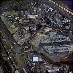 John F Kennedy International Airport   The Strange Beauty of Airports Photographed From Above - John Metcalfe (via The Atlantic Cities)