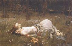 John William Waterhouse - Ophelia, 1st exhibited 1889