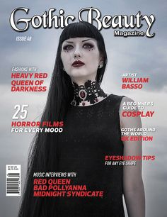 Issue 48 now available We're excited to announce the release of Issue 48! Here are a few features in this issue you won't want to miss...  [h1]Queen of Darkness[/h1]Quee... http://www.gothicbeauty.com/2016/03/issue-48-now-available/  #badpollyanna #eyeshadowmakeuptips #heavyred #midnightsyndicate #queenofdarkness #redqueen #ukgoths #williambasso