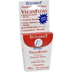 Eco-Dent VeganFloss Premium Dental Floss Cinnamon - 100 Yards - Case of 6 Reduces Tooth Decay Helps Eliminate Plaque Freshens Breath No Plastic Box Vegan W Cinnamon Essential Oil, Natural Essential Oils, Dental Floss, Dental Care, Cure Tooth Decay, Foeniculum Vulgare, Teeth Implants, Dental Implants, Implant Dentistry
