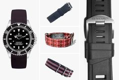 The Crown & Buckle Perlon is our favorite...  GEARPATROL:  5 Watch Straps to Beat the Heat