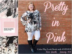 In today's post, I model and review three pretty in pink tops from Avenue to show you all the ways you can wear Rose Quartz this season. #avenue #avenueplus #plussize #style #fashion #psootd #ootd #outfit #pink