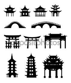 китайские традиционные здания - Стоковая иллюстрация: 56053783