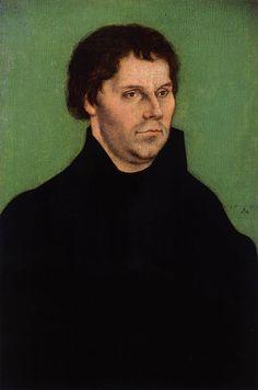 LUCAS CRANACH (1472 - 1553) - Portrait of Martin Luther - 1525.
