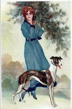 Corbella Art Deco postcard