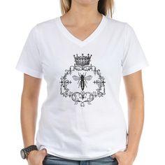 Vintage Queen Bee Women's V-Neck T-Shirt