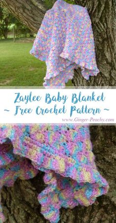 Zaylee Baby Blanket | Free Crochet Pattern at Ginger-Peachy.com