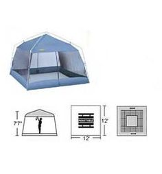 Trek canvas screen house barre army navy store still the for Breezeway screen room